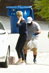 Charlize Theron - Outside Her Home in LA 04/17/2020