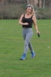 Danielle Mason - Exercises in the Park in London 04/27/2020