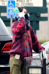Eiza González Wearing a Bandana - Shopping at Grocery Store in LA 04/06/2020