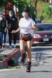Elisabetta Canalis on Kango Jumps - Los Angeles 04/15/2020