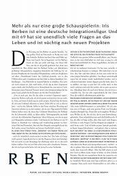 Iris Berben - Vogue Magazine Germany May 2020 Issue