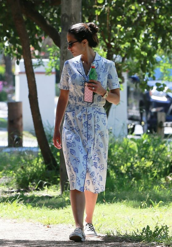 Jordana Brewster - Sunday Stroll in Santa Monica 04/26/2020