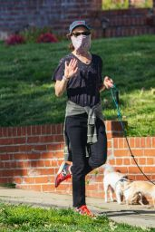 Juliette Lewis - Takes Her Dogs For a Walk in Los Angeles 04/17/2020