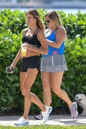 Kelly Bensimon in Black sports Bra and Shorts 04/23/2020