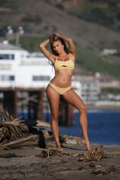 Khloe Terae in a Bikini - 138 Water Advert Photoshoot in Malibu 04/15/2020