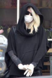 Kimberly Stewart Wearing a Face Mask 04/19/2020