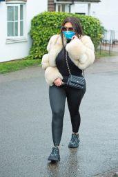 Lauren Goodger in Leggings - Leaving Her House 04/17/2020