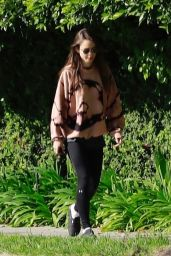 Lily Collins in Leggings - Taking a Walk in Beverly Hills 04/07/2020