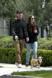 Lily Collins - Out for a Walk in Beverly Hills 04/04/2020