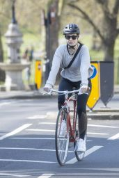 Lily James - Daily Exercise During COVID-19 in London 04/11/2020