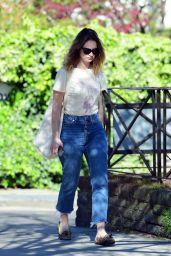 Lily James Street Style - Out in London 04/05/2020