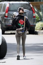 Lucy Hale in Workout Gear - West Hollywood 04/04/2020
