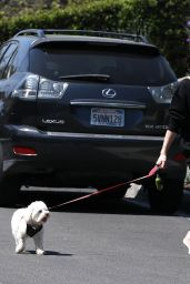 Lucy Hale - Walking Her Dog Elvis in Los Angeles 04/01/2020