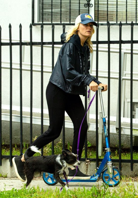 Malin Akerman - Rides a Scooter 04/07/2020