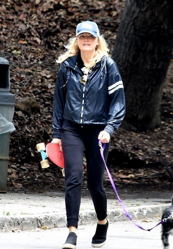 Malin Akerman - Walks Her Dog in Los Feliz 04/08/2020