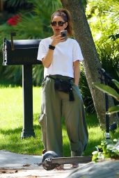 Maria Menounos - Out For a Scooter Ride in LA 04/15/2020