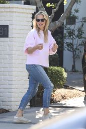 Molly Sims - Outside Her Home in LA 04/18/2020