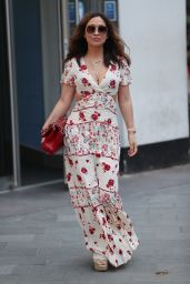 Myleene Klass in Plunging Floral Cut-Out Maxi Dress 04/24/2020