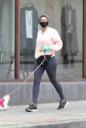 Nicole Murphy Takes Her Dog For a Stroll - Beverly Hills 04/07/2020