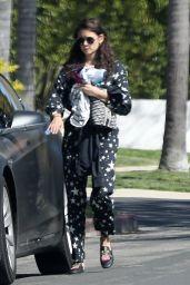 Nina Dobrev in Jumpsuit - Out in LA 04/03/2020