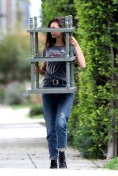 Nina Dobrev - Moving Some Furniture in LA 04/07/2020