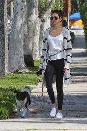 Nina Dobrev - Walking Her Dog in LA 04/07/2020