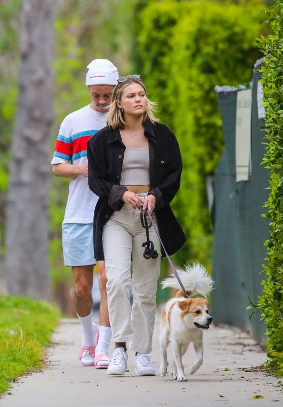 Olivia Holt - Walks Her Dog in Los Angeles 03/31/2020
