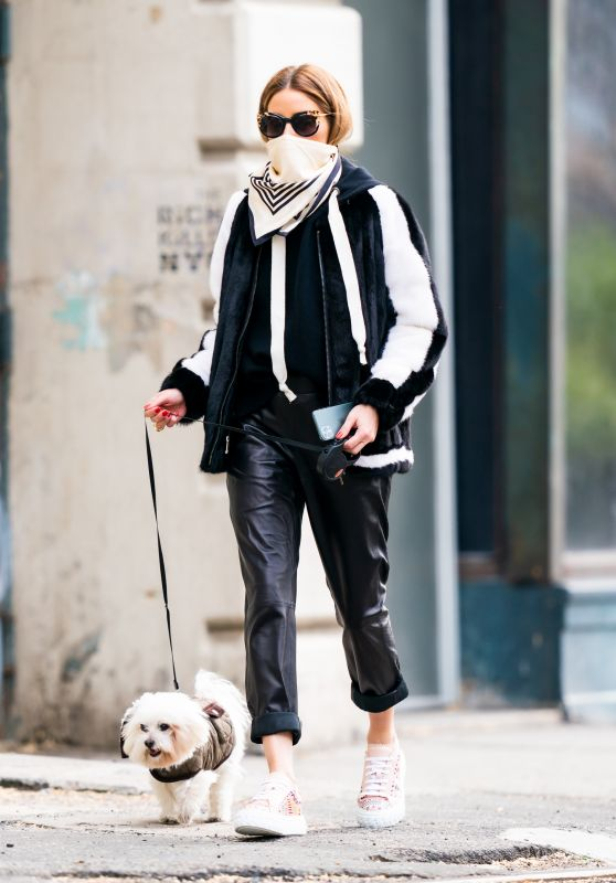 Olivia Palermo - Walking Her Dog in New York 04/28/2020