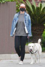Olivia Wilde - Walking Her Dog in LA 04/05/2020