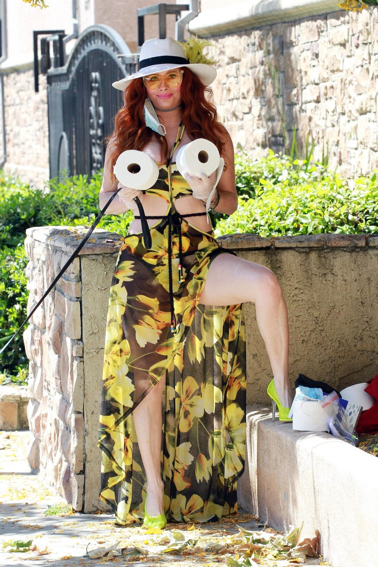 Phoebe Price In Floral Print Dress 04 23 2020