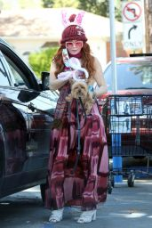 Phoebe Price Wears a Face Mask - Gets Ready to Celebrate Easter in West Hollywood 04/11/2020