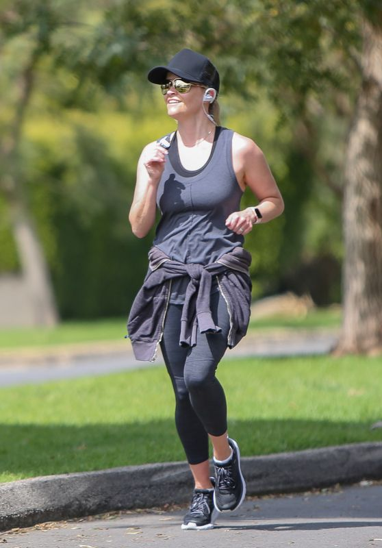Reese Witherspoon - Jogging in LA 04/07/2020