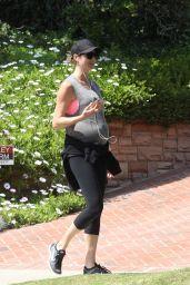 Stacy Keibler Reveals Her Baby Bump 04/02/2020