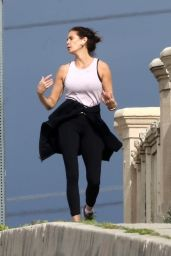 Teri Hatcher Gets in Her Daily Exercise - Los Angeles 04/05/2020