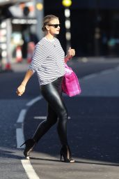 Vogue Williams in PVC Leggings and Stripes 04/05/2020