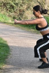 Yazmin Oukhellou Works Up a Sweat in a Tiny Sports Bra 04/12/2020