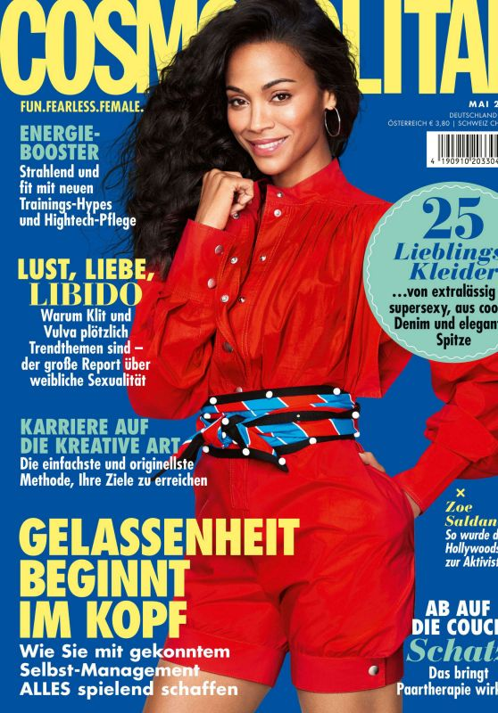 Zoe Saldana - Cosmopolitan Magazine Germany May 2020 Issue