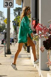 Alessandra Ambrosio Leggy in Shorts - Get Coffee in Brentwood 05/07/2020