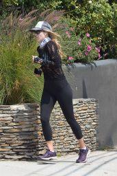 Ali Larter in Leggings - Jogging in Pacific Palisades 05/10/2020