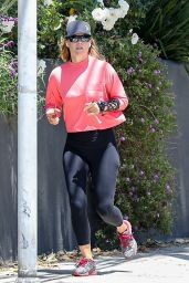 Ali Larter - Jogging in Santa Monica 05/15/2020