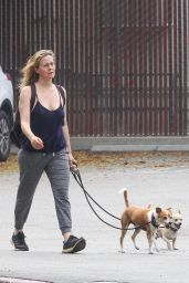Alicia Silverstone - Walking Her Dogs in Hollywood 04/29/2020