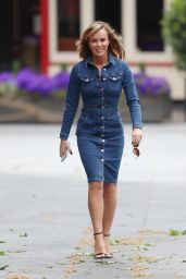 Amanda Holden in a Denim Dress 05/11/2020