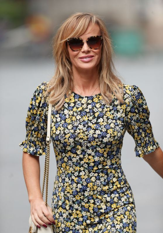 Amanda Holden in a Floral Print Tea Dress 05/13/2020