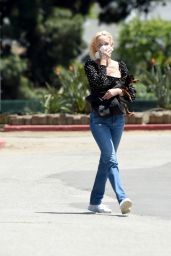 Amber Valletta and Teddy Charles - Walking Their Dogs in Los Angeles 05/25/2020