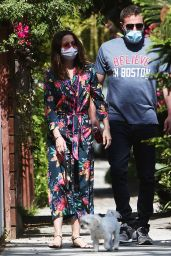 Ana de Armas in a Floral Jumpsuit Out in Venice Beach 05/07/2020