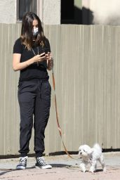 Ana De Armas in Casual Outfit - Walking Her Dog in Venice 05/15/2020