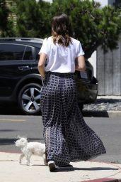 Ana De Armas in Maxi Skirt and White T-Shirt 05/08/2020
