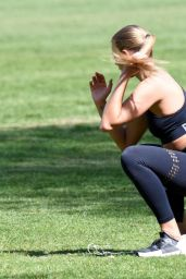 Arabella Chi - Working Out in the Park in London 05/15/2020