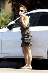 Ashley Greene in a Mini Dress - Los Angeles 05/09/2020
