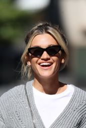 Ashley Roberts in a Woollen Top and Skirt - London 05/18/2020